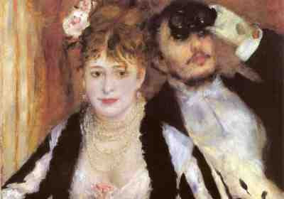 Pierre-Auguste Renoir - La Loge (The Theatre Box) detail (1874)