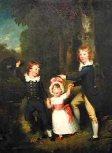 Sir Thomas Lawrence - The Children of Lord Cavendish (enhanced)
