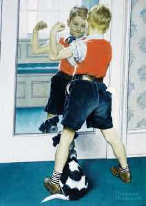Norman Rockwell - The Muscleman (1941)