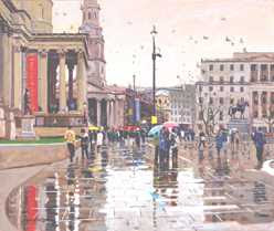 Brian Wigger - Wet Day, Trafalgar Square (2007)