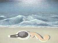 René Magritte - Les Reflets du Temps (1927) detail