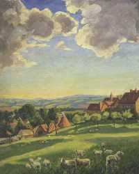 Sir Winston Churchill - Chartwell Landscape with Sheep © Sotheby's Images