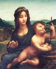 Leonardo da Vinci - Madonna With The Yarnwinder (1500-1510)