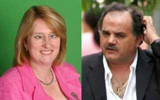 Jacqui Smith (retouched to emphasize her defective vision) and Chief Inspector Goncalo Amaral (untouched)