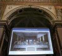 Last Supper on Giant Screen in Church of Santa Maria delle Grazie, Milan