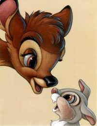Walt Disney Studios - Bambi and Thumper (Bambi 1942)