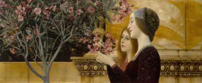 Gustav Klimt - Two Girls with an Oleander (ca 1890-2)