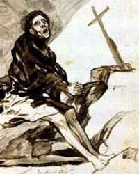 Francisco de Goya - Repentance (circa 1812-29)