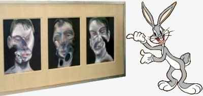 Francis Bacon - Three Studies for a Self Portrait & Professor Wabbit