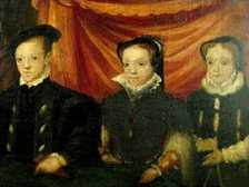 Unknown Artist - Edward VI, Mary I and Elizabeth I as children (1550s) slightly enhanced