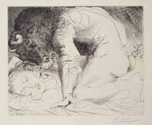 Picasso - Minotaur and Woman (NOT the stolen work)