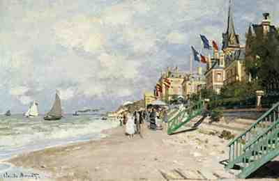 Claude Monet - La Plage a Trouville