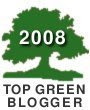 Top Green Blogger Logo