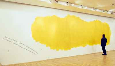 Nedko Solakov - The Yellow Blob Story (1997) photo: Angel Tzvetanov