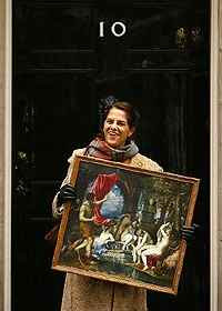 Tracey Emin at No 10 (10/11/2008)