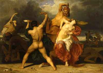 William-Adolphe Bouguereau - The Battle between the Centaurs and Lapiths (1852)