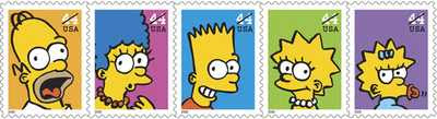 Matt Groening - The Simpsons on Stamps, US Postal Service (2009)