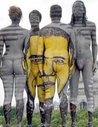 Body-painted Portrait of US President Barack Obama (2009)