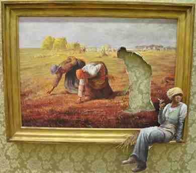 The Gleaners by Jean-Franois Millet (1857) and Bansky (2009)