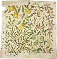 William Morris - Wallpaper Design: Fruit or Pomegranate (c.1862)
