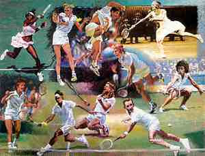 Rolf Harris - Montage of The Top 10 Wimbledon Champions (2009)