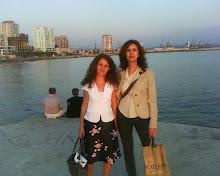 Con Brikena, poeta y traductora