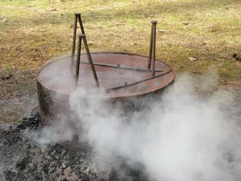 upended fire pit, smokier 2