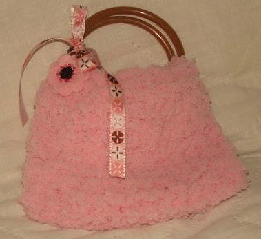 Soft Pink Knitted Girls Bangle Purse  $5.00