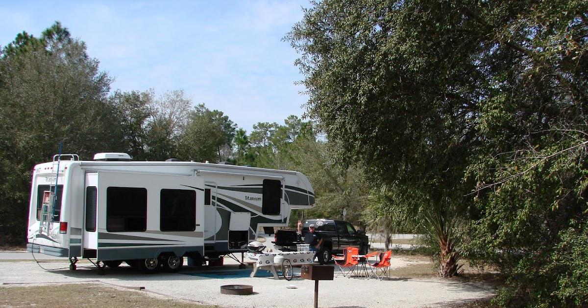 Rv Parks Ocala Fl >> RV Campsites and Reviews: Silver River State Park, Ocala, FL Site 58 2/22/09