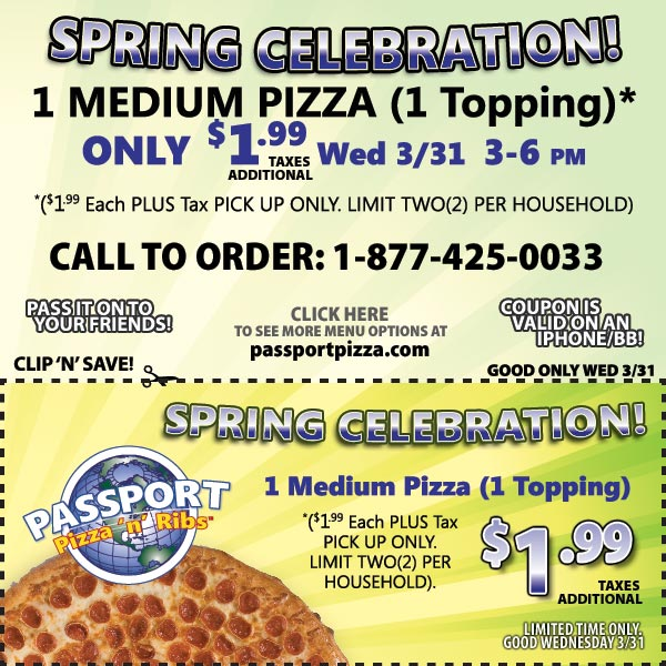Passport pizza coupon code