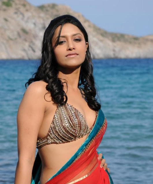 mamta mohandas hot saree stills