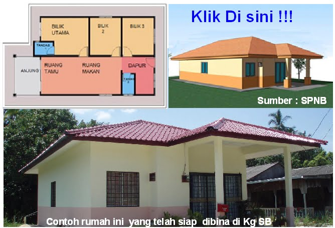 Info : Program Rumah Mesra Rakyat (Banglo Setingkat 3 Bilik keluasan 700-866 kp)