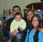 Pastor Marcio e sua familia irmã Andréia, Larissa e Asafe