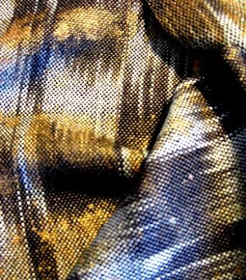 Silk/tencel painted warp scarf