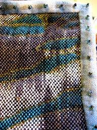 Close up of quilt edge