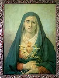 Virgen Dolorosa del colegio SAN GABRIEL de Quito-Ecuador