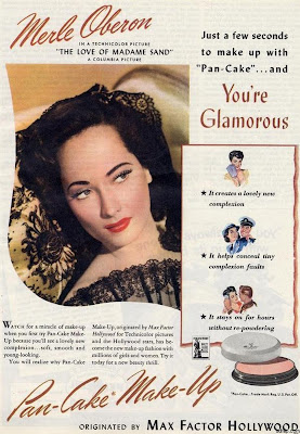 Max Factor - Pan cake makeup adverts - Merle Oberon