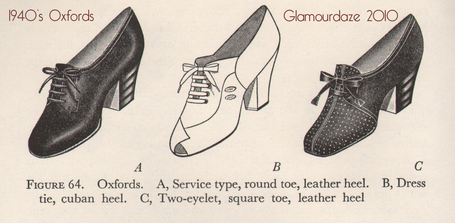 Oxford 1940s Shoes