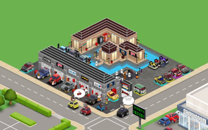 Template car town for Pianificatore di layout di garage