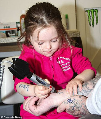 Although he hopes Ruby will make tattoo art her career, he told the North