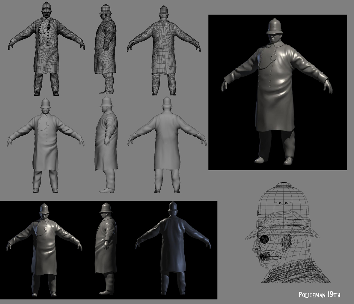 Aaron Sims Company Character Design Development : Abraldes