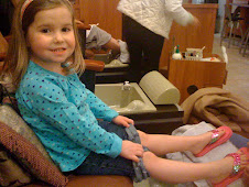 Gigi's first mani/pedi