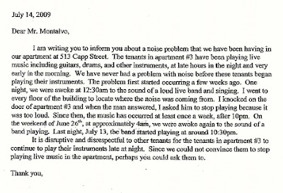 Noise complaint letter to landlord acurnamedia noise complaint letter to landlord noise complaint letter complaint letter sample spiritdancerdesigns Image collections