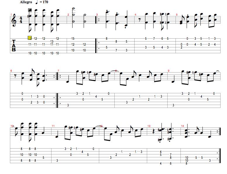canciones para guitarra clasica: