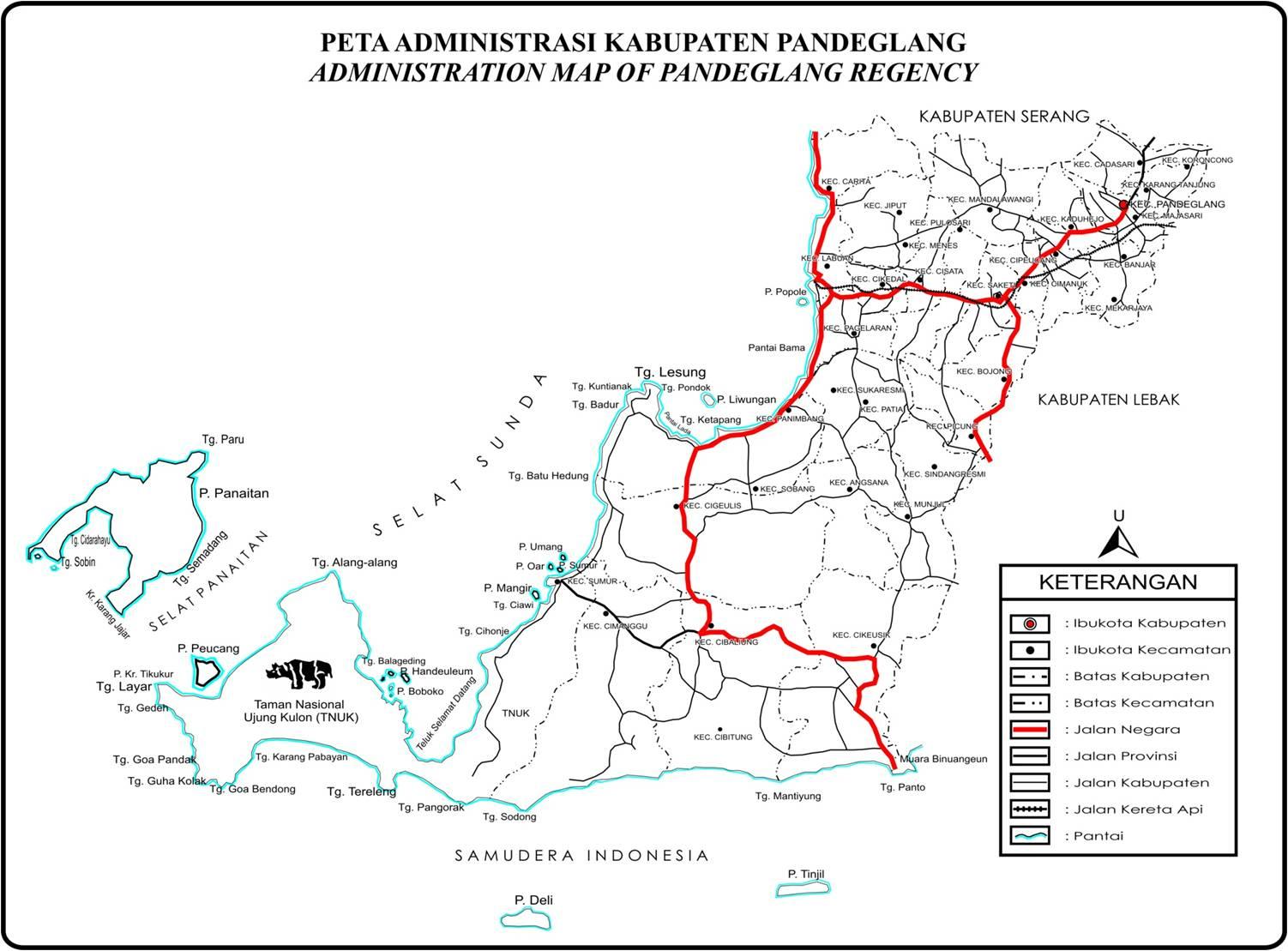Pandeglang Indonesia  city pictures gallery : pandeglang JGC 5: peta pandeglang