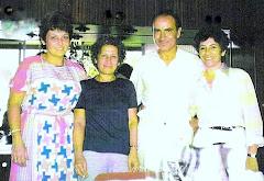 """Con Esther """"Dita"""" Cohen, Griselda Gambaro y Manuel Puig."""