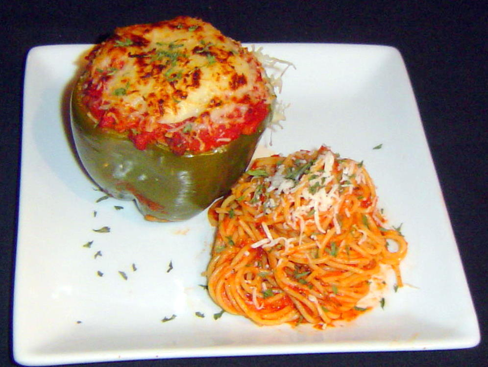 Kitten with a Whisk: Italian Style Stuffed Bell Peppers