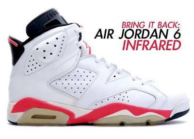 white infrared 6s  Infrared/black 6's..