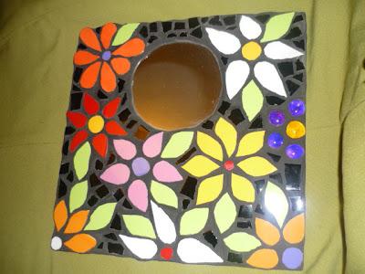 Decoraci n con mosaicos espejos - Espejos de ceramica ...