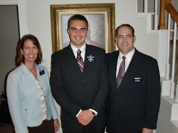 Tyler has arrived in Texas! Ty with his Mission President and his wife